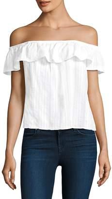Bella Dahl Women's Cotton Ruffled Top
