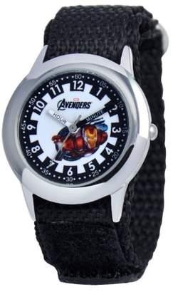 Marvel Kids' W000304 Avenger Kid's Stainless Steel Time Teacher Velcro Strap Watch