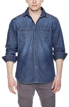 Co Quality Durables Men's Slim Fit Denim Work Shirt Snow Wash XXX-Large