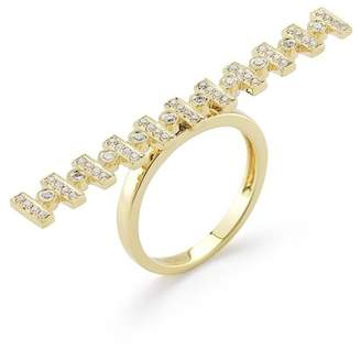 DANA REBECCA 14K Yellow Gold Reese Brooklyn Diamond Fashion Ring - Size 6 - 0.33 ctw