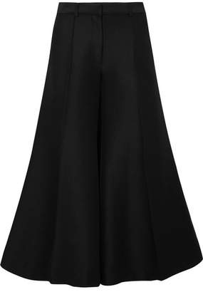 Rokh Brushed Cotton And Wool-blend Wide-leg Pants