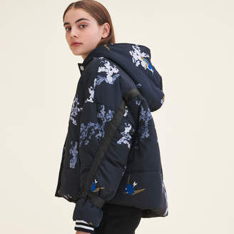 Maje Cropped printed down jacket