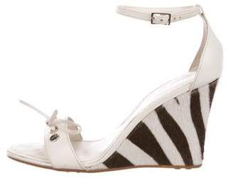 Tod's Ponyhair Wedge Sandals