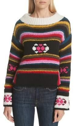 Smythe Hand Knit Stripe Alpaca Sweater