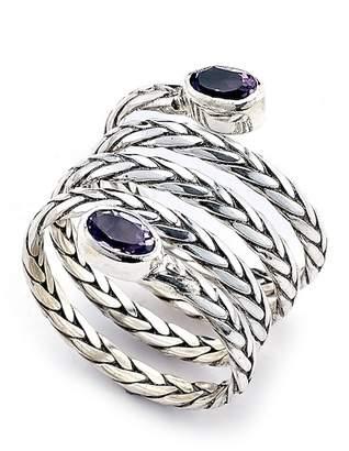 Samuel B Jewelry Sterling Silver Braided Spiral Ring
