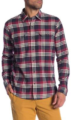 Tailor Vintage Plaid Long Sleeve Stretch Fit Shirt