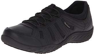 Skechers for Work Women's Bungee Slip Resistant Lace-up Sneaker