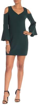 Trina Turk Radner Cold Shoulder Bell Sleeve Dress