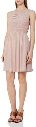 REISS Charlotte Smocked Dress $330 thestylecure.com