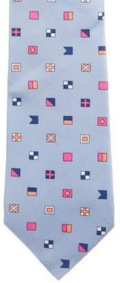 Etro Flag Print Silk Tie