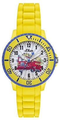 S'Oliver SO - 2982 PQ-Boys-Watch Analogue Quartz Bracelet Silicone Yellow