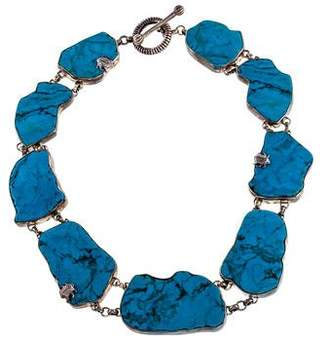 Stephen Dweck Turquoise One of a Kind Collar Necklace