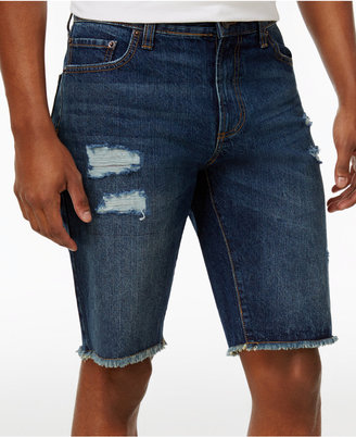American Rag Men's Big & Tall Cotton Jean Shorts, Created for Macy's $55 thestylecure.com