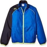 Mizuno (ミズノ) - (ミズノ)MIZUNO ウインドブレーカーシャツ 32JE4920 22 ブルー×ネイビー 130
