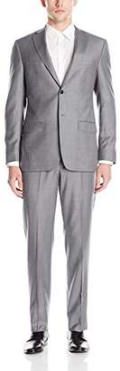 DKNY Men's Dasper Single Breasted Two Button Slim Fit Suit