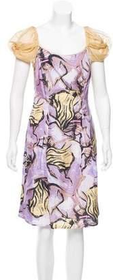 Alberta Ferretti Silk Abstract Printed Dress