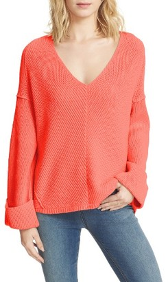 Women's Free People La Brea V-Neck Sweater $108 thestylecure.com