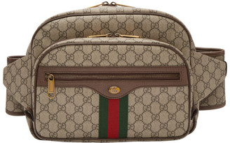 Gucci Brown GG Supreme Ophidia Belt Bag