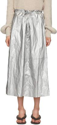 MM6 MAISON MARGIELA Silver Shiny Skirt