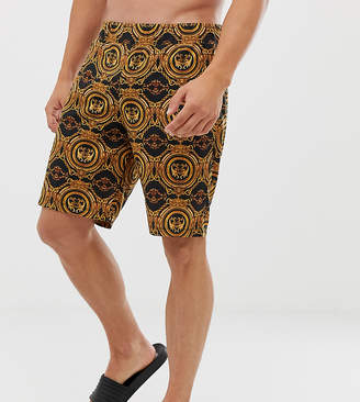 Asos DESIGN mix & match pyjama shorts in baroque print