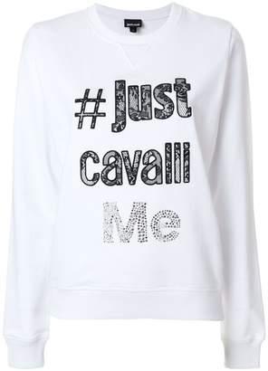 Just Cavalli logo design sweatshirt