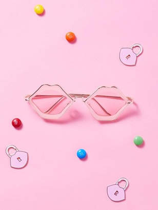 Rola Lip Sunglasses Pink