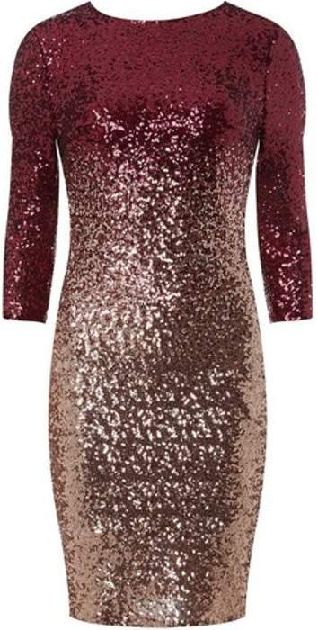 Womens **Pink Ombre Sequin Bodycon Dress