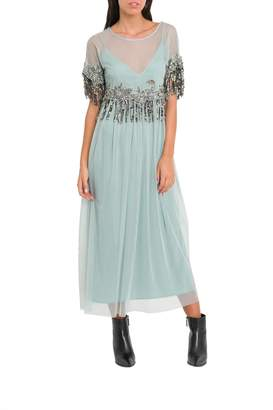 Semi-Couture Semicouture SEMICOUTURE Transparente Dress With Undeshirt And Decorations