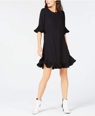 Alfani Pleated Flounce Dress