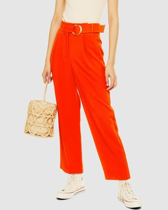 Topshop Belt Tapered Trousers