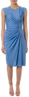 Lanvin Draped Avio Color Dress