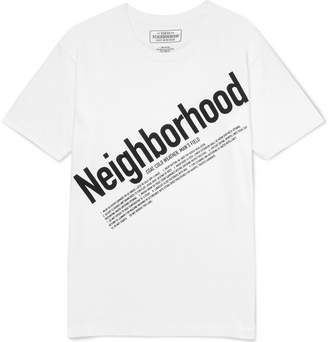 Neighborhood Logo-Print Cotton-Jersey T-Shirt