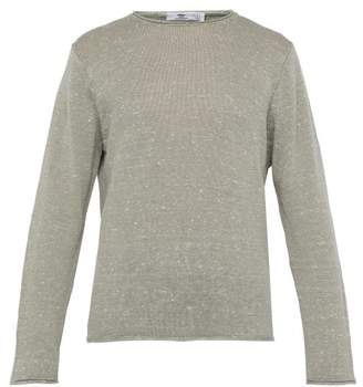 Inis meáin Inis MeAin - Crew Neck Linen And Silk Blend Sweater - Mens - Green