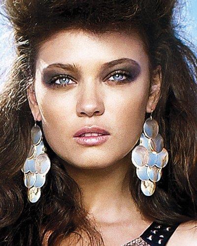 Wavy Disc Chandelier Earrings