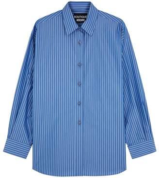 Moschino Blue Pinstriped Cotton