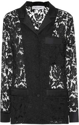 Valentino Lace pajama top