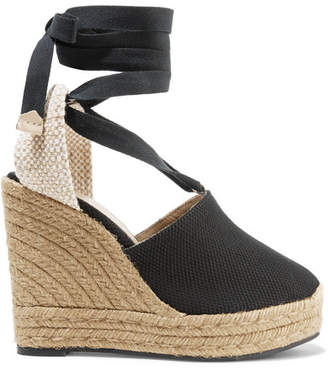 Castaner Nerea 120 Canvas Wedge Espadrilles - Black