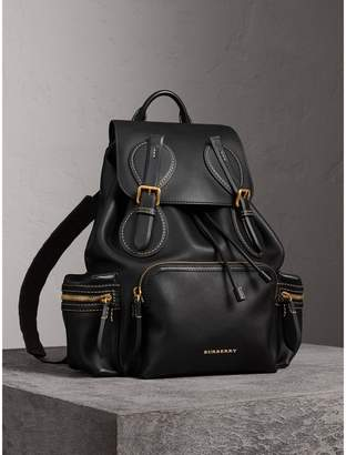 Burberry The Large Rucksack in Topstitched Leather