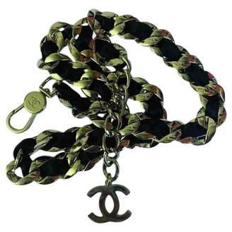 Chanel Vintage Ultra Black Steel Long Necklace