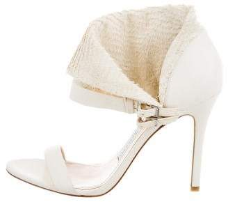 Camilla Skovgaard Textured Ankle Strap Sandals w/ Tags