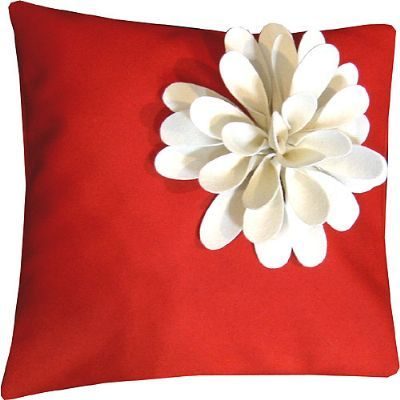Pillow Seabloom Red-Cream