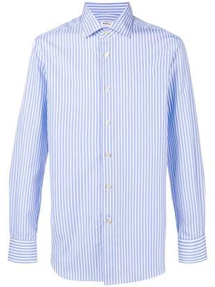 Kiton striped slim fit shirt