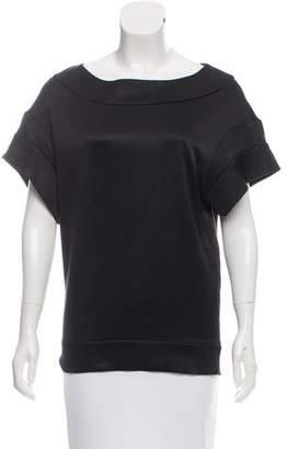 Miu Miu Textured Short Sleeve Top