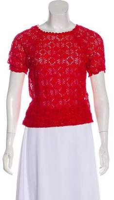 Isabel Marant Lace Short Sleeve Top