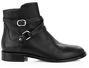 Jimmy Choo Women's Halbert Buckle Leather Ankle Boots