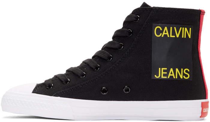 Calvin Klein 205W39NYC Black Canvas Canter High-Top Sneakers
