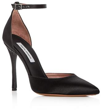 Tabitha Simmons Women's Alhambra Satin Ankle Strap Pointed Toe Pumps