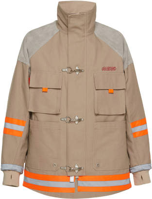 Heron Preston Cotton-Canvas Canvas Fireman Jacket