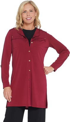 Every Day by Susan Graver Liquid Knit Button-Front Tunic