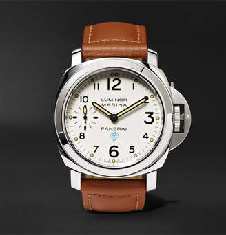 Panerai Officine Luminor Marina Logo Acciaio 44mm Steel And Leather Watch